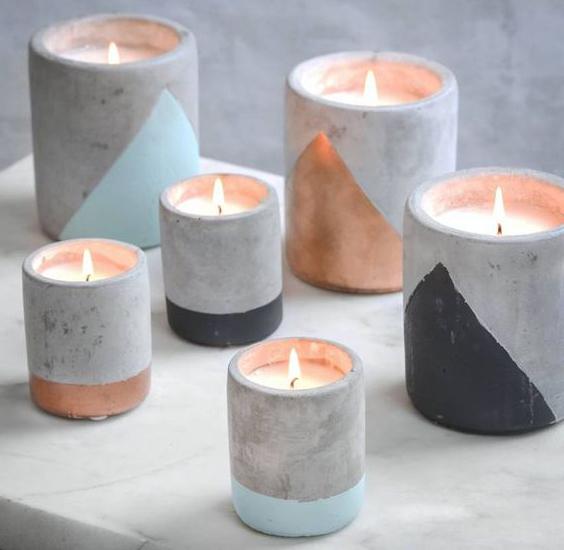 красивые подсвечники из бетона