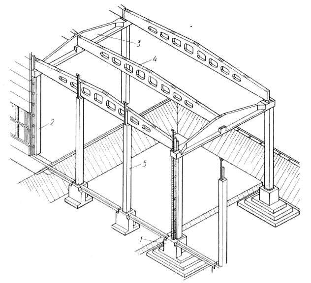 монолитная рамная конструкция