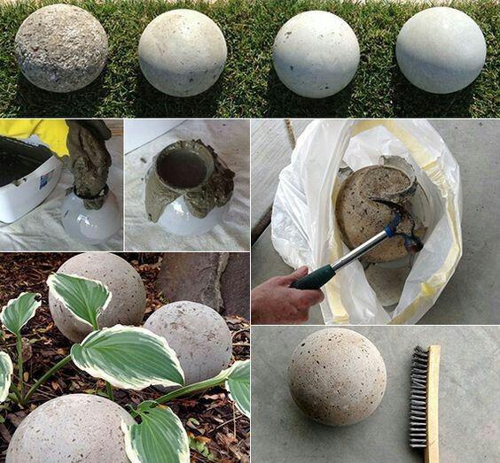 создание декоративных бетонных шаров