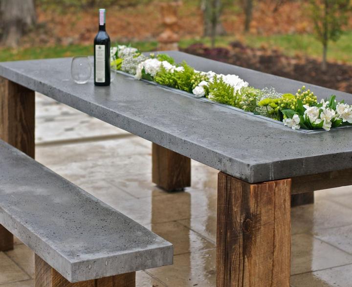 стол из бетона как сделать