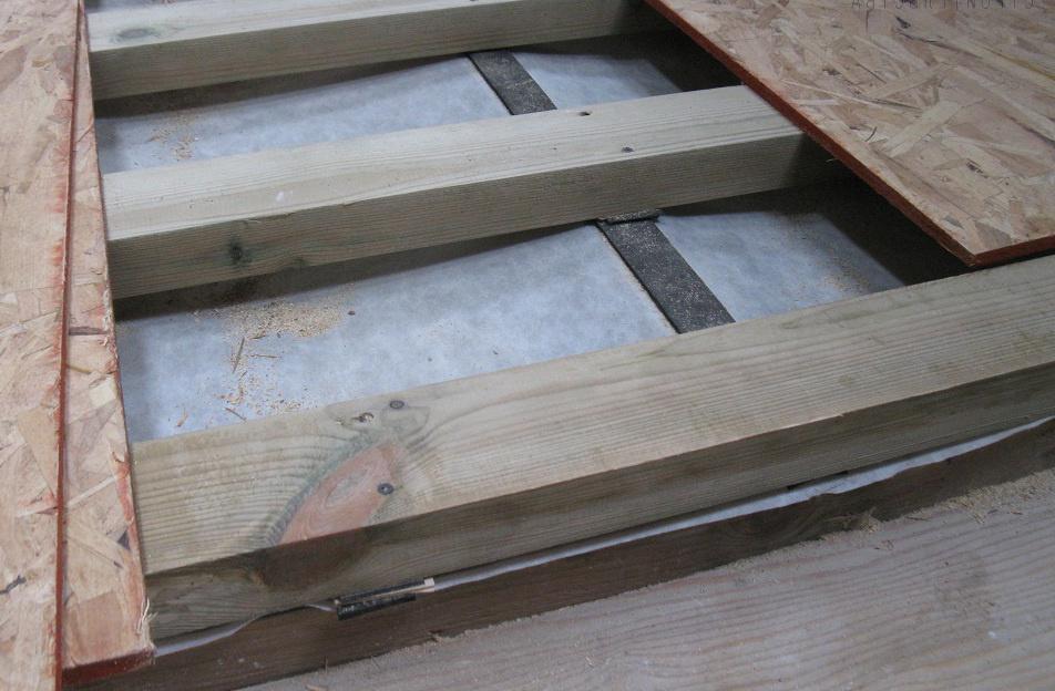 укладка осб на деревянные лаги