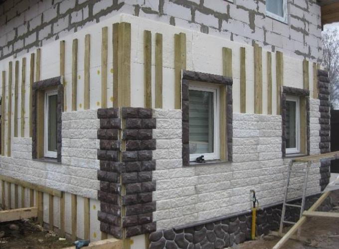 утепление и облицовка газобетонного дома снаружи