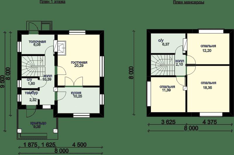 варианты планировки домов до 100 метров