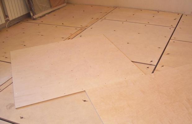 выполнение пола из осб на бетон