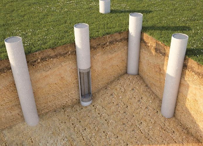 как делают свайно-ростверковый фундамент под дом из газобетона
