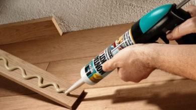 особенности приклеивания древесины к бетону