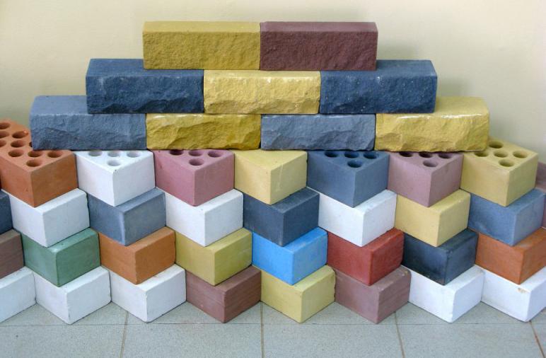 цветной силикатный бетон