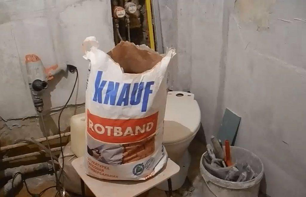 Гипсовая штукатурка в ванной комнате
