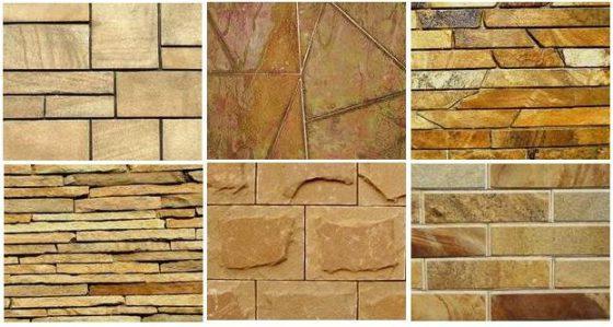 Отделка фасада природным натуральным камнем