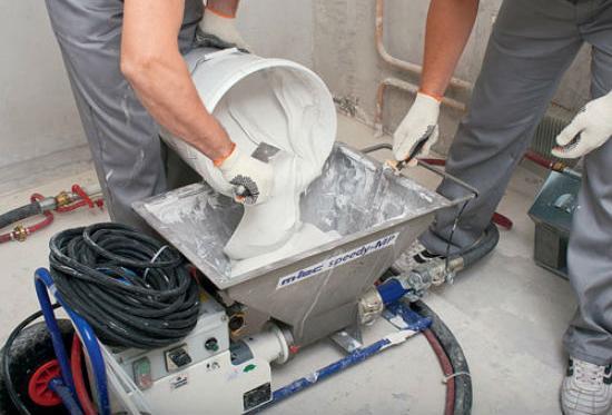 Аппарат для механизированной штукатурки
