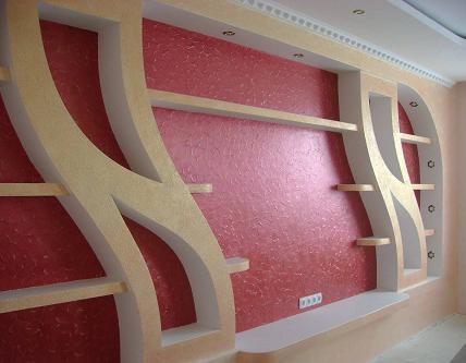 Декоративная отделка стен из гипсокартона