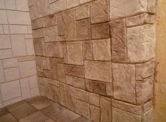 Каменная штукатурки интерьер