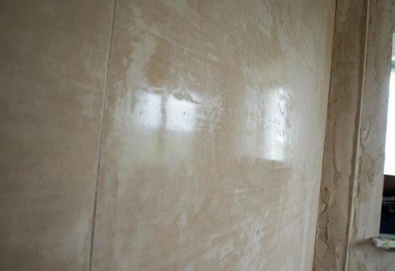 Глянцевание стен после штукатурки