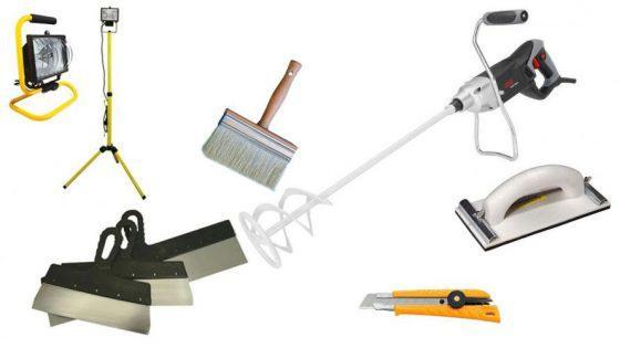 Инструменты для шпаклевки потолка под покраску