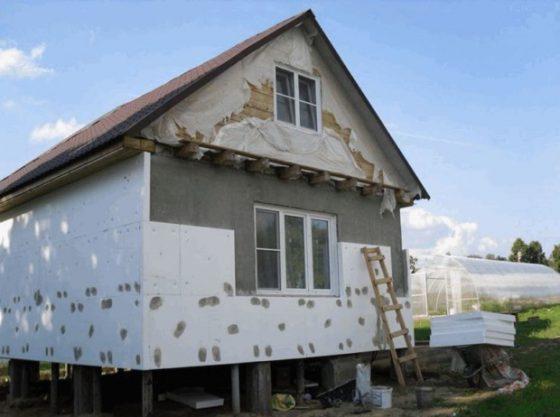 Штукатурка дома по утеплителю фасада
