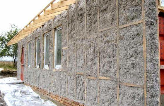 Утепление фасада эковатой снаружи