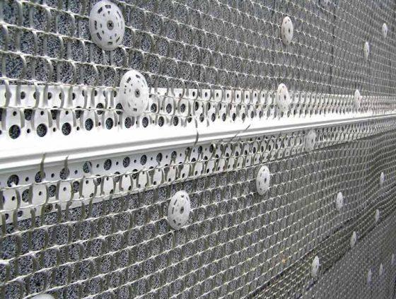 Армирующая сетка на фасаде