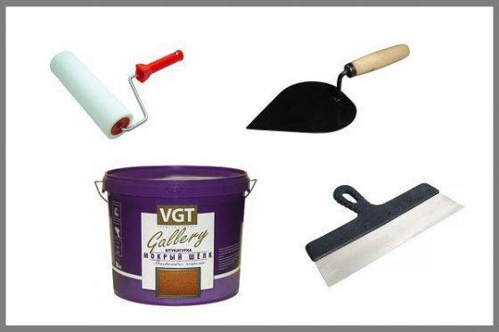 Инструменты для нанесения мокрого шелка