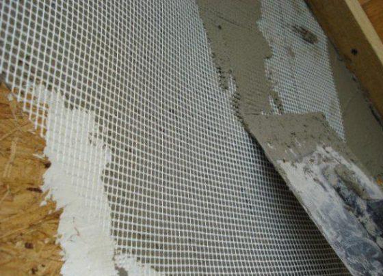 Как штукатурить стены фасада с сеткой