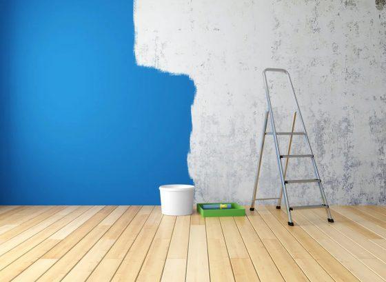 Окрашивание шпаклеванных стен