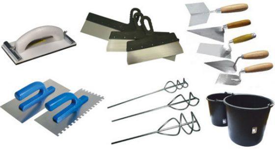 Инструменты для штукатурки фасада