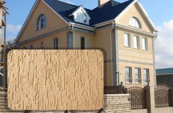 Штукатурка дождик для отделка фасада
