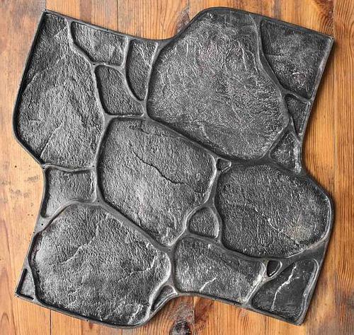 Штамп для создания дикого камня на цоколе