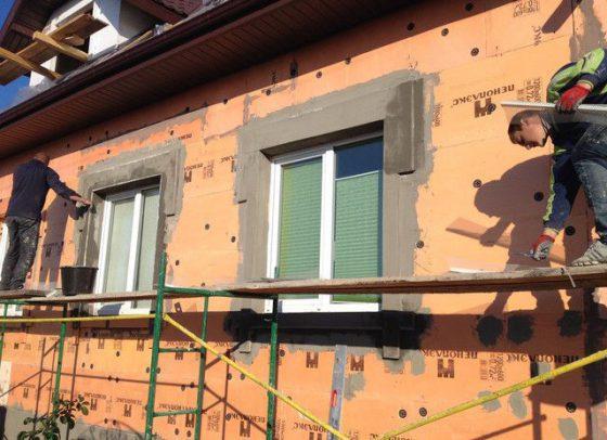 Штукатурка фасада из пеноплекса