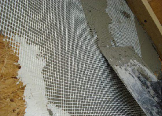 Штукатурка по осб плите на фасаде с сеткой