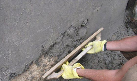 Штукатурка цементно песчаным раствором