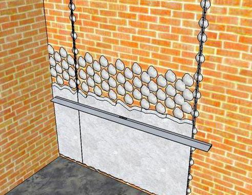 Схема штукатурки стен по маякам