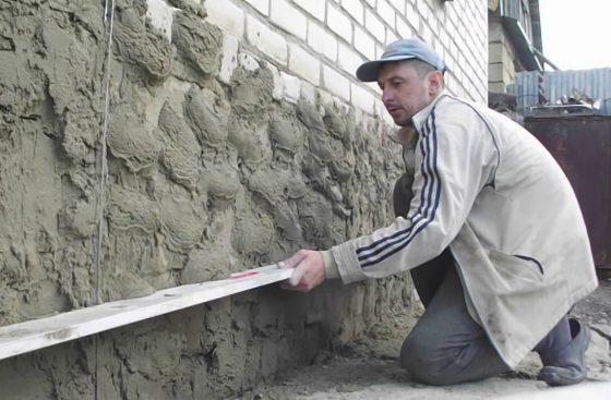 Создание эффекта камня на цоколе