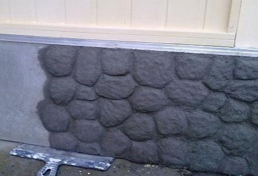 Создание каменной фактуры на цоколе