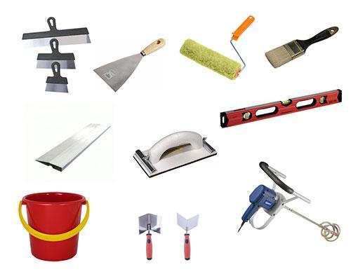 Все необходимое для шпаклевки потолка